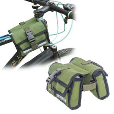 Mountain Bike Cycling Frame Bag Front Phone Pannier Holder Pouch Double Sides