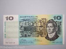 1974 Australian Paper Note $10 Ten Dollar Phillips Wheeler R305 TBU