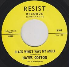 "HAYES COTTON Black Wings Have My Angel Re. 7"" Stomping Northern Soul R&B HEAR"