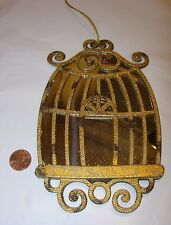 antique gold silver mirror birdcage bird cage Christmas Tree Ornament 7x4 $