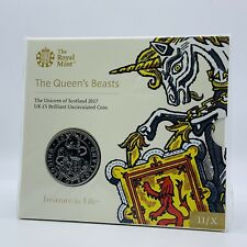 More details for 2017 queens beasts the unicorn of scotland bu five pound £5 coin pack sealed / a