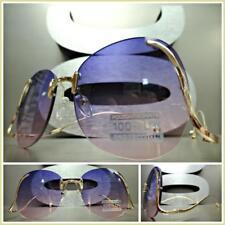 KIDS CHILDRENS RETRO Style SUN GLASSES Upside Down Gold Frame Purple & Pink Lens