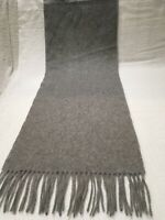 J.CREW 100% pure cashmere scarf muffler wrap solid Gray Light Charcoal NWOT's