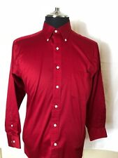 Men's IZOD Button-down Cranberry RED dress SHIRT Size: (L)