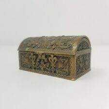 ANTIQUE ERHARD & SOHNE BRONZE REPOUSSE Jewelry Domed Trunk Case Chest Box Small