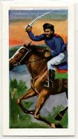 Cossack Slavic Russian Mounted Warrior Weapon Vintage Ad Trade Card