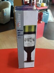 New Wine All Mine Wine Glass By Yorkshire Holds Full Bottle of Wine Great Gift