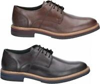Hush Puppies POINTER Mens Leather Formal Office Smart Lace Up Derby Shoes