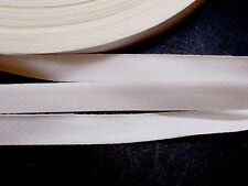 White Twill Tape Ribbon 1/2 inch wide x 10 yards, Off White Twill Tape