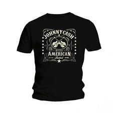 Johnny Cash Men Finger Short Sleeve T-shirt Black Large