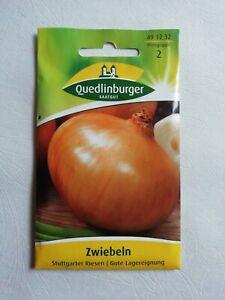 3 x Quedlinburger Saatgut, Zwiebeln, Stuttgarter Riesen, Gute Lagereignung