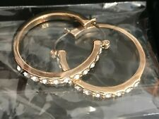Avon - Zaneta Earrings - Gold Coloured Plating With Clear Stones