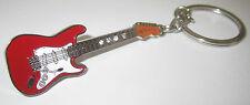 Electric Guitar Key Ring Keyring Music Gift Present Fender Guitarist Red Fob