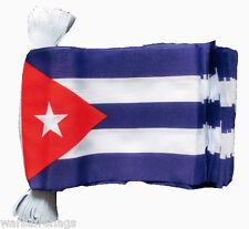 More details for cuba flag bunting 9 metres 30 flags cuban havana caribbean guantanamo castro