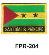 "2-1/2'' X 3-1/2"" SAO TOME&PRINCIPE  Flag Embroidered Patch"