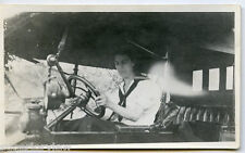 Original Photo Woman Learning To Drive Automobile 1920 Lady Driving Car MUST SEE