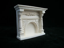 Fireplace small Victorian UMF9 plaster & resin dollhouse miniature 1/12 scale