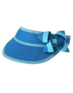 GYMBOREE SWIM SHOP BLUE w/ BOW VISOR HAT 3 4 5 7 8 9 10 NWT-OT