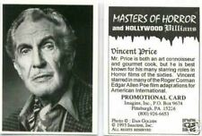 Masters of Horror promotional card 2 [Vincent Price]