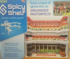 SPICY SHELF HOME KITCHEN CABINET ORGANIZER EXPANDS AND CONTRACTS AS NEEDED