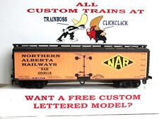 HO CUSTOM LETTERED NORTHERN ALBERTA  FREIGHT CAR REEFER. LOT A