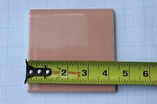 """Mid-century pink ceramic wall tile trim NOS 4 5/16"""" bullnose nosing vintage"""