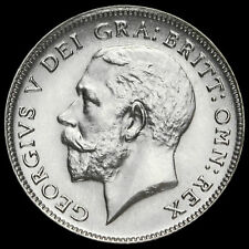 1925 George V Silver Sixpence, Narrow Rim, EF #2