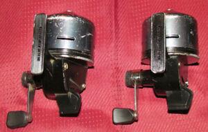 ABU Garcia ABU-MATIC 290 Fishing Reel PAIR Made in Sweden Vintage Spincast GOOD!