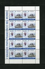 VATICAN CITY 2015 POPE FRANCIS TRIPS SET OF SHEETS  OF TEN STAMPS  NEVER HINGED