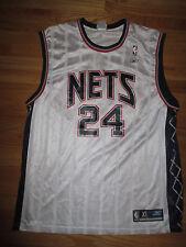 Reebok RICHARD JEFFERSON No. 24 NEW JERSEY NETS (XL) Jersey WHITE
