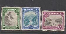 JAMAICA 106-108 Scenes mint 1932