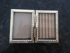 Vintage small double goldtone picture frame