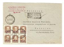 Polen Briefmarken Brief von 1951 Groszy Aufdruck T.2 Präsident Mi 655