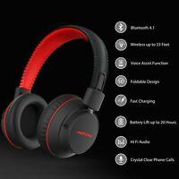 Mpow Bluetooth 4.1 Headset Over Ear Stereo Bass Headphones Noise Cancelling NEW