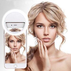 Selfie Light Ring Light Portable USB Smart Phone Rechargeable 3 Mode LED Clip