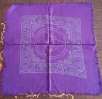 Altar Cloth Charmed Celtic Triquetra 18 x 18  Purple & Black
