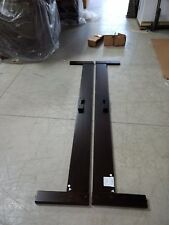 West Elm Simple Bed Frame King size Chocolate Brown wooden platform RAILS