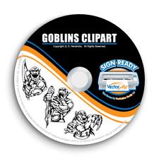 GOBLINS CLIPART-VECTOR CLIP ART-VINYL CUTTER PLOTTER IMAGES & TSHIRT GRAPHICS CD