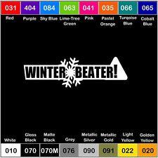 WINTER BEATER Vinyl Decal Sticker Window Bumper Drift JDM snowflake