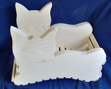 Wooden Cat Basket / Planter by The Old Coot