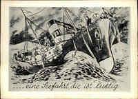 """Schiffe """"Eine Seefahrt die ist Lustig"""" Postkarte Verlag Siegler Nr 541 ungelauf."""