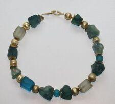 Designer Kette Verschluss Sterling Silber 925 Halskette 41 cm Spacer grün blau
