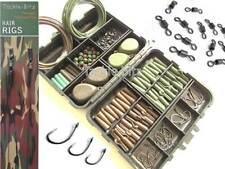 Carp Fishing Tackle Box Set 4 Carp Fishing Weights Safety Clips Hooks Hair rigs