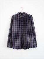 HOF115:COS Herren Hemd baumwolle kariert violett / Cotton check shirt purple M