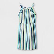 Art Class Girl's High Neck Tank Top Dress Size Large 10-12 Striped NEW