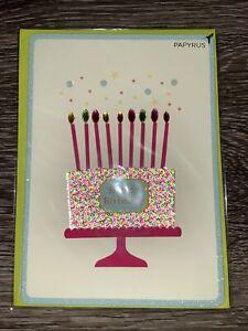 "Papyrus Birthday Card - ""Happy Birthday"" Jeweled Cake"