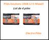 Lot de 4 Piles bouton LR44 G13 de marque MAXELL, livraison rapide et gratuite