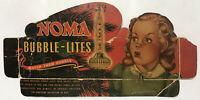 Vintage 1950s NOMA Bubble-Lites, Package Scrap. Suitable for framing.