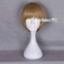 Anime for GINTAMA Sougo Okita Flaxen Short Straight Party Basic Cosplay Wig+Cap