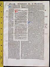 Incunabula,Bible Quire,6 Lvs.Paul's Epistle/Romans,Chapt.10-13,Hdptd.Initia.1498